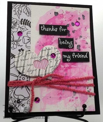 Thanks for being my friend handmade card