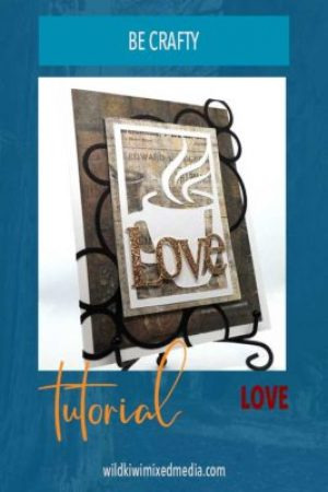 PIN for love and coffee cup card