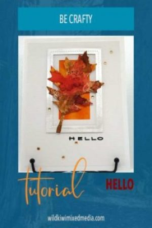 Pinterest pin for hello leaf handmade card